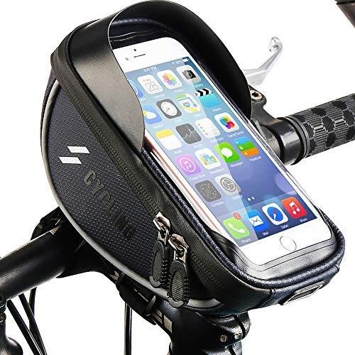Nasharia Fahrrad Handytasche, Wasserdicht Fahrradlenkertasche Handyhalterung Oberrohrtasche Fahrrad Handy Tasche Fahrradtasche Rahmentaschen für Handy GPS Navi und andere Edge bis zu 6 Zoll Geräte