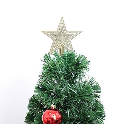 OUNONA-Christbaumspitze-Weihnachtsbaumschmuck-Stern-Partei-Dekoration-Gold