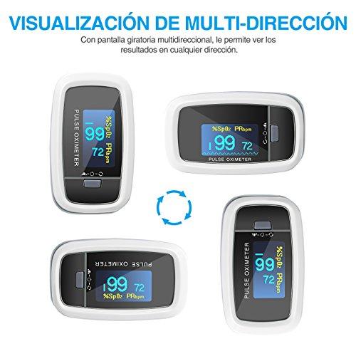 【Edición de Salud】Mpow Oxímetro de Dedo Pulsioxímetro de Dedo Oxímetro Pulsómetro Digital Lector de Pulso Digital de Lectura Instantánea Sensor de Oxígeno y Monitor de Frecuencia de Pulso Aprobado por FDA&CE
