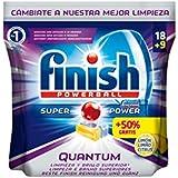 Finish Quantum Lave-vaisselle Plaquettes Citron 18 + 50% (27 pastillas)