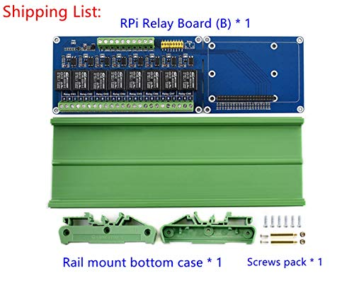 Lotus RPi Relay Board (B), an Expansion Board with 8-ch relays for Raspberry Pi A+/B+/2B/3B/3B+, for High Power Home Appliances and Industrial, Loads up to 5A 250V AC or 5A 30V DC -