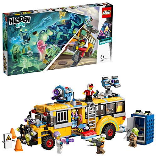 LEGO 70423 Hidden Side Paranormal Intercept Bus AR Games App, Interactive Augmented Reality Ghost Playset for iPhone/Android