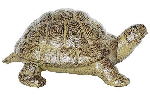 aubaho Schildkröte Figur Skulptur Garten Eisen 3,5kg schwer Gartenfigur Teichfigur - Pan Statue