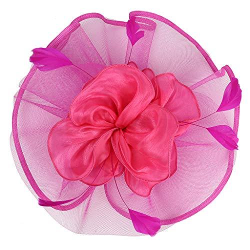 UJUNAOR 1920s Stirnband Damen Gatsby Kostüm Accessoires 20er Jahre Flapper Feder Haarband(Hot Pink,One size)