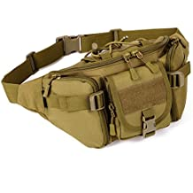 Aeoss Outdoor Unisex Waist Bag Tactical Military Waist Pack Chest Bag Pouch Waist Pack With Water Bottle Pocket Holder Molle Fanny Hip Belt Bag