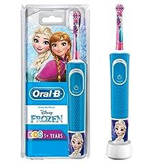 Idea Regalo - Oral-B Kids Spazzolino Elettrico Ricaricabile 1 Manico con Personaggi Disney Pixar Frozen, per Età da 3 Anni