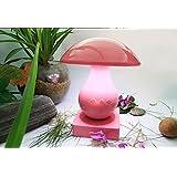 XL-3-Bluetooth Mini tarjeta inalámbrica mesa lámpara seta LED Sensor de luz inteligente Audio táctil pantalla táctil , pink