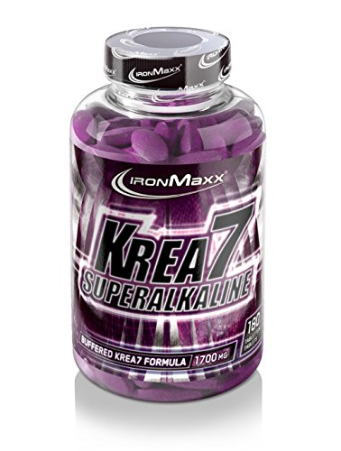 IronMaxx Krea7 Superalkaline/Kreatin-Tabletten von IronMaxx für höhere körperliche Leistung/1 x 180 Tabletten