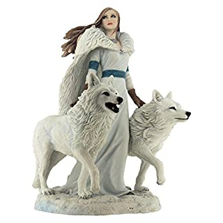 Winter Guardians Wolf Figurine By Anne Stokes
