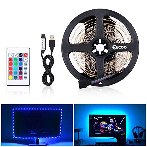 LED Strip RGB Flexible 5M LED Licht Streifen SMD 5050 LED Lichtleiste mit USB-Kabel, Fernbedienung, 5V DC Lichtleisten, LED Band, Indoor Dekoration LED Streifen, LED Stripes