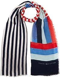 Colorant Cravate Femmes Logo Écharpe, Bleu (901 Entreprises), Taille (taille Du Fabricant: Os) Tommy Hilfiger
