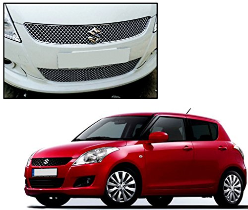 Auto Pearl - Premium Quality Car Chrome Front Grill For - Maruti Suzuki Swift 2011 Chrome  available at amazon for Rs.2069