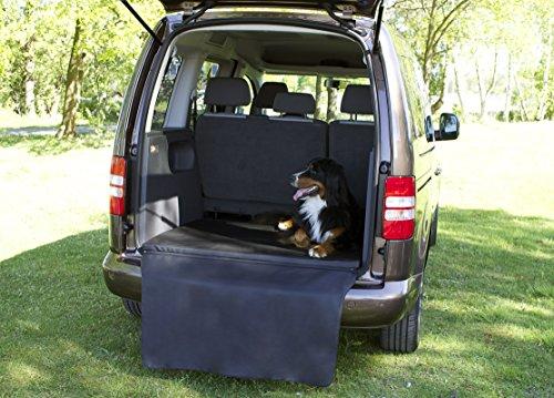 Kamaca Kofferraumschutz Ladekantenschutz Kofferraummatte Hund gepolstert mit weichem Viskose Komfortschaum Bezug abwischbar Stoßstangenschutz (M - 100 cm breit x 80 cm tief x 3 cm hoch)
