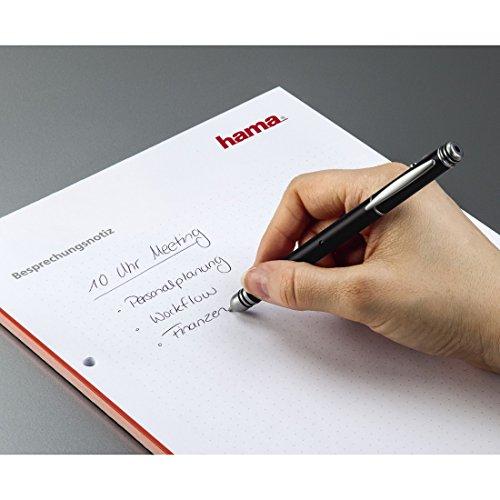Hama 00003530 3-in-1 Laserpointer LP-30 (Presenter, Eingabestift, Kugelschreiber mit schwarzer und roter Mine, Metallgehäuse, roter Laser, Reichweite bis 50 m) schwarz - 4