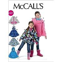 McCalls M6431 - Patrón de costura para confeccionar poncho infantil (6 modelos diferentes) [en inglés y alemán]