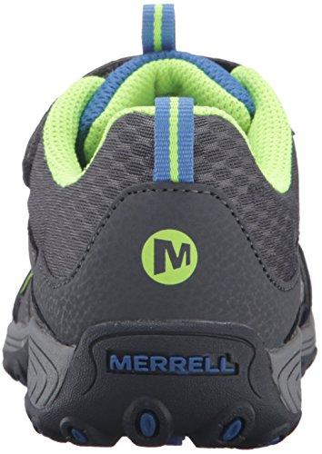 Merrell Trail Chaser, Chaussures de Randonnée Basses Garçon Gris (Grey/Blue/Citron)