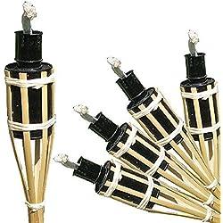 16 antorchas de bambú para aceite