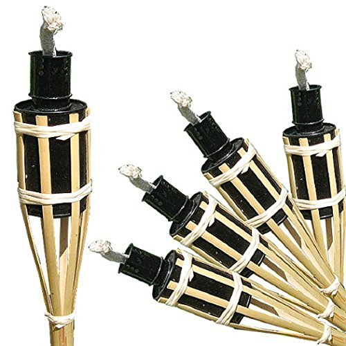 16 Gartenfackeln a. Bambus Öllampen mit Sturmverschluss Dochtschutz