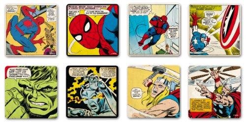8 Stück Marvel Comics Untersetzer Bierdeckel Spider Man, Thor, Hulk, Captain America, Silver Surfer GROßES SET 2