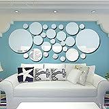 Anself 26pcs/set Acrilico Polka Dot Wall Mirror Adesivi Home Decorazione Decori Arte Murales DIY Decalcomanie Arte
