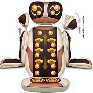 Elektrischer Geheizter Vibrierender Massagesessel, Hals-Zurück Taillen-Bein-Massage-Kissen Für Haushalt, Gold