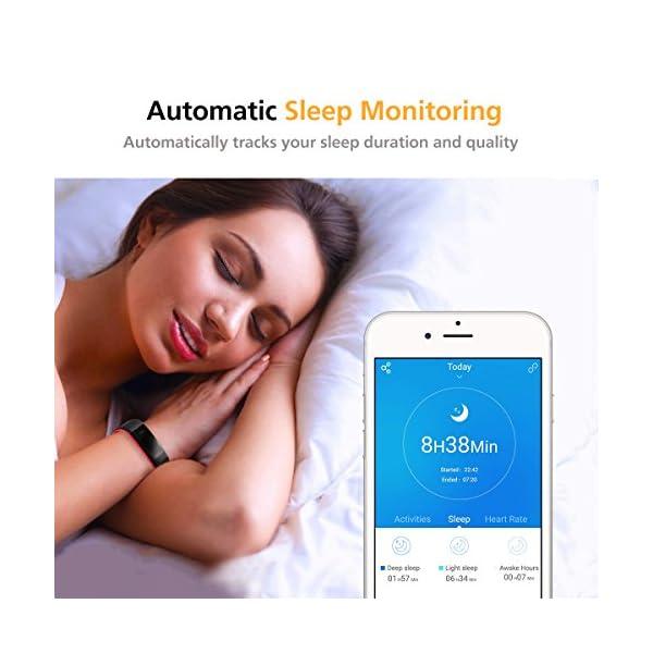 Monitores de Actividad, Vigorun Fitness Tracker Smart Pulsera con Monitor de frecuencia cardíaca Pulsera Inteligente… 7