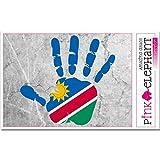 pinkelephant Aufkleber - Namibia - Hand - Handabdruck - Fahne - 21 cm x 20 cm - Laptop Sticker skin flag