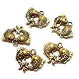#5: Beadsnfashion German Silver Charms Golden 19x16 mm, Pack Of 50 Pcs.