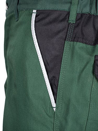 TMG® - Herren Bundhose/Cargohose für Gartenarbeit - strapazierfähig - Grün (W30 S / EU23)