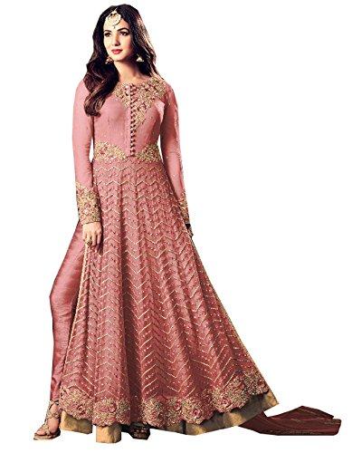 Special Mega Sale Festival Offer C&H Pink Georgette Embroidery Designer Anarkali Salwar...