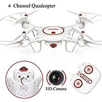 Syma X5UC Dron 4CH 2.4G Mando Distancia Cuadricóptero 6 ejes Gyro RC Sin cabezal Quad Drohne HD 2.0MP Cámara Set Altura UFO con más nuevo Uno Llave Despegue/Aterrizaje Función