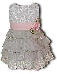 Vestido de Ceremonia, Bodas,Arras de Bebe Niña para 4 Años, Fabricación Española