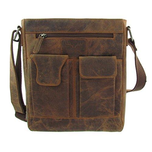 Handtasche Umhängetasche Hunter Designer Tasche Wasserbüffelleder Original Qualitätsware (Original-designer-taschen)