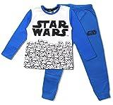 Star Wars Kinder Lange Baumwolle Pyjamas (8 Jahre, Weiß)