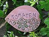 Keramik Schild Kräuterstecker Beetstecker Gartendeko Pflanzenstecker Pflanzenschild Pflanzhilfe