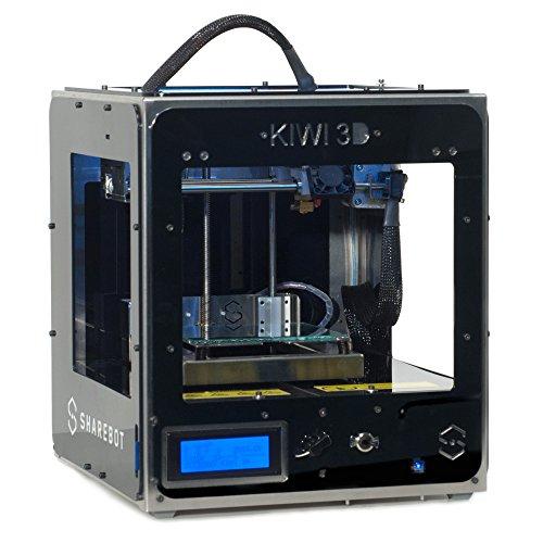 Sharebot Kiwi 3D - Impresora 3D (140 x 100 x100 mm, ranura para tarjeta SD, USB), negro