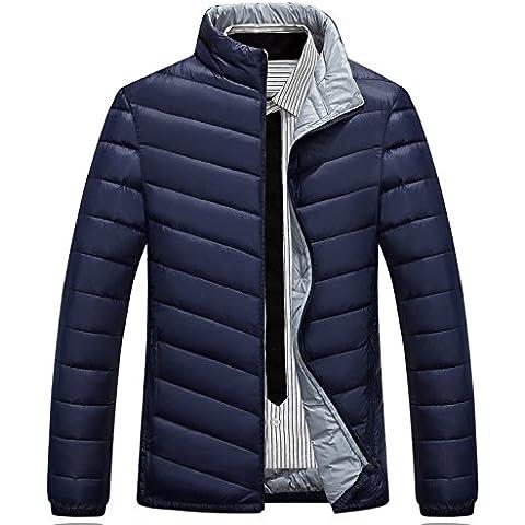 XNWP-Outdoor ropa casual para hombres Down Jacket escudo ,azul aciano,L