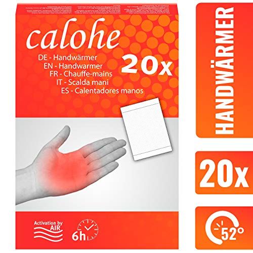 calohe Handwärmer - Taschenwärmer für die kalte Jahreszeit I Wärmekissen für Hände und Finger I 20x Wärmepads | 100{d0644954df95e73c74879b8761750dd608f66a1601c3abca97dc557b3420f54d} natürliche Inhaltsstoffe