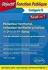 Rédacteur territorial, rédacteur territorial principal de 2e et de 1re classe - Tous les concours et examens professionnels par Quillien