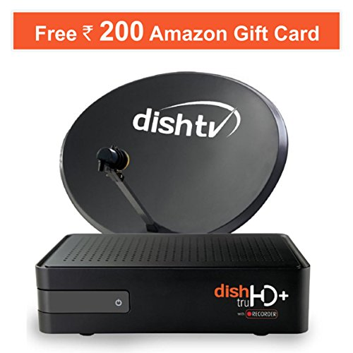Dish TV HD+ Recorder Set Top Box, One Month Free Titanium Sports Pack & Rs. 200 Amazon Voucher