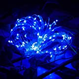Lichterkette,MMLC 3M 30 LED-Lichterkette Draht Batterie-betrieben (Blue)