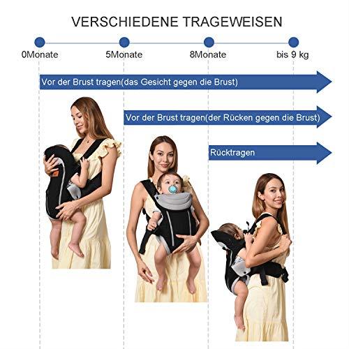 Manduca Babytrage Bauchtrage Rückentrage Hüfttrage rot - 6