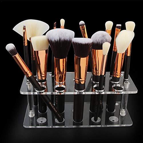 Somedays 20 Agujeros Transparente acrílico lápiz Labial Maquillaje Cepillo Soporte cosmético Expositor Estante Organizador – no Incluye Pinceles de Maquillaje