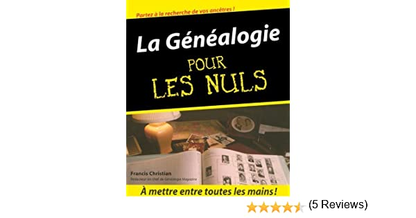 genealogie pour les nuls