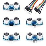 Emakefun HC-SR04 Ultrasonic Sensor Distance Module (5Pcs+10Pin Dupont Line)for Arduino UNO R3 Mega2560 Nano Robot Raspberry Pi 3