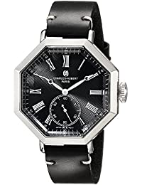 Charles-Hubert, Paris Men's 3962-B Premium Collection Analog Display Japanese Quartz Black Watch