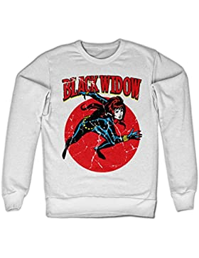 Marvels Black Widow Sweatshirt (White)