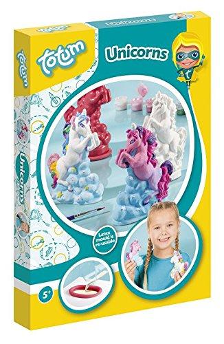 Creativity Einhorn Gipsfiguren - Gipsgießset besteht  aus 7 Farben, Pinsel, Latexform, 200g Gips, Kartonhalter, Gebrauchsanweisung