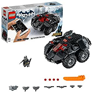 LEGO 76112 DC Comics Batman App Controlled Batmobile Toy Car, Motor Powered, Build and Play Superhero Toys for Kids