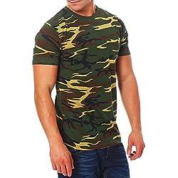 Camuflaje-Camiseta de Army Military Bundeswehr verde verde XL
